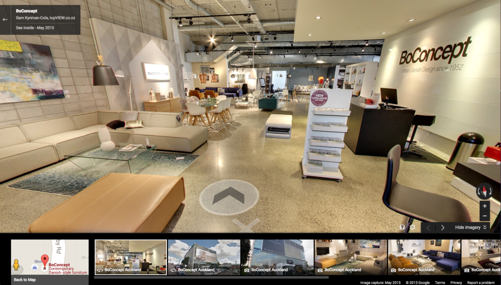 BoConcept Normandy Road Google Business View tour screenshot