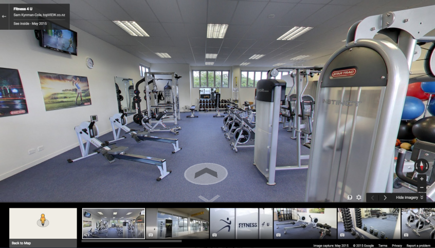 Fitness 4 U Google Business View tour screenshot