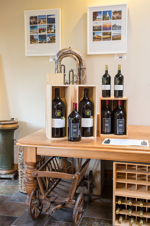 Coopers Creek wine displays