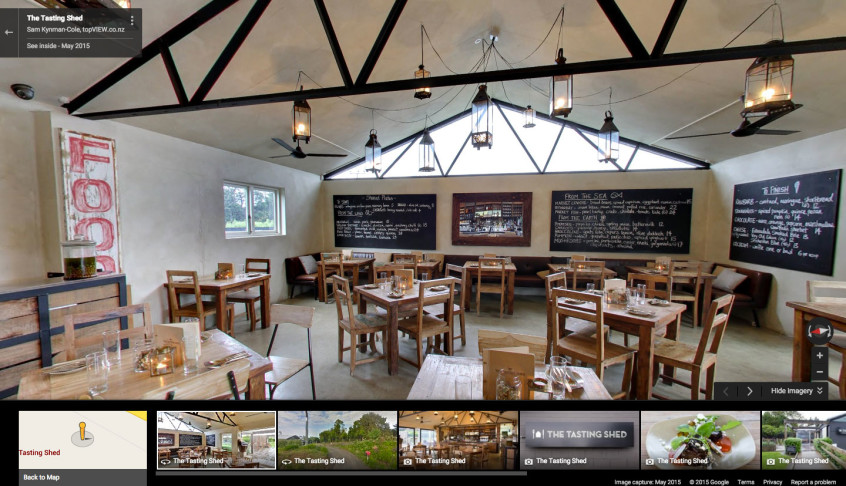 The Tasting Shed 360 degree tour screenshot