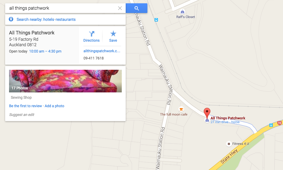 All Things Patchwork Google Maps Search BEFORE