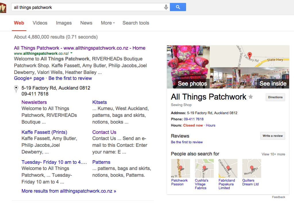 Presence on Google AFTER engaging topVIEW Photography: