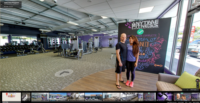 Anytime Fitness Street View Inside screenshot by topVIEW Photography