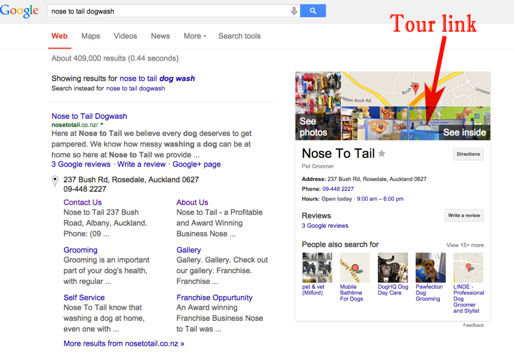 Nose to Tail Google SERP