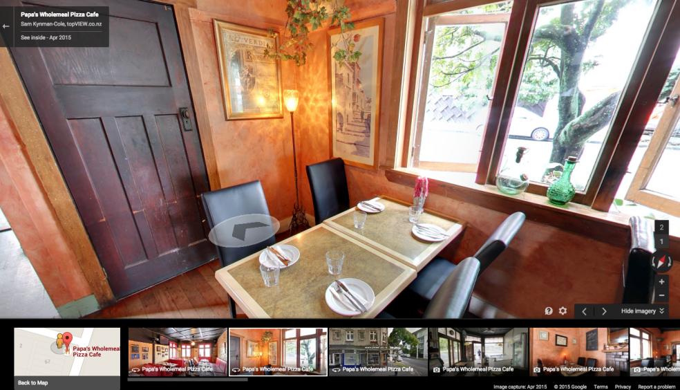 Papas Pizza Google Business View tour screenshot